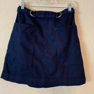 Anthropologie navy skirt barely worn!